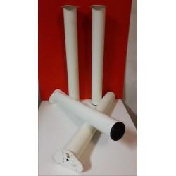 Stalen witte buro - tafelpoten 72 cm hoog