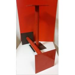 Stalen rode tafelpoten 69 cm hoog 60 mm doorsnee