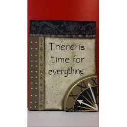 "Schilderij met spreuk ""There is time for Everything"""